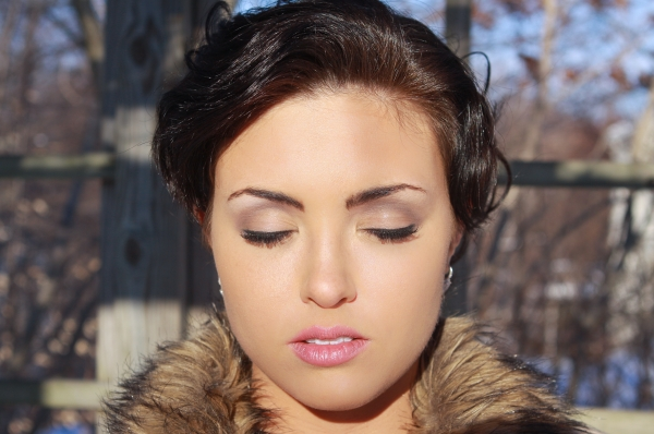Bridal Hair and Makeup in CT - Photo shoot for Inspiring actress