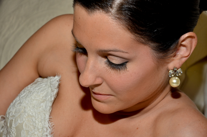 Nicole Sanders Wedding: Soon to be bride relaxing before the big  moment- Bridal Makeup in CT