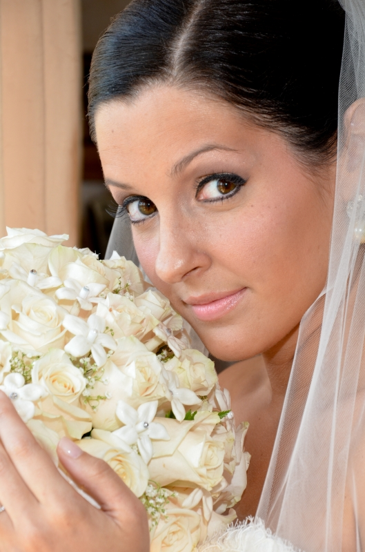 Nicole Sanders Wedding: smile for the camera - Bridal Makeup in CT