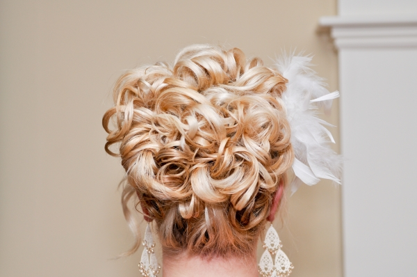 Bridal Hair and Makeup in CT - Bridal updo